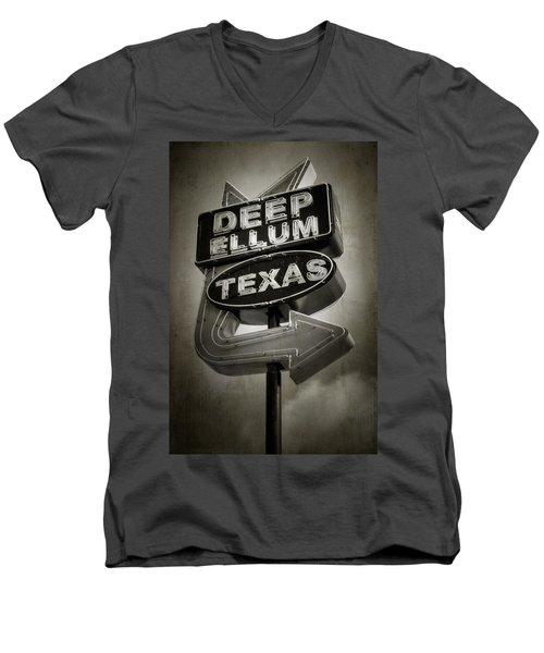 Deep Ellum Men's V-Neck T-Shirt