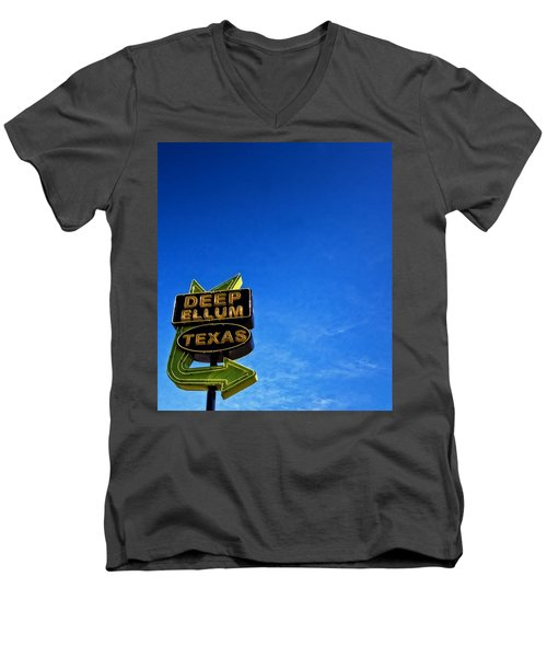 Deep Ellum Men's V-Neck T-Shirt by Mark Alder