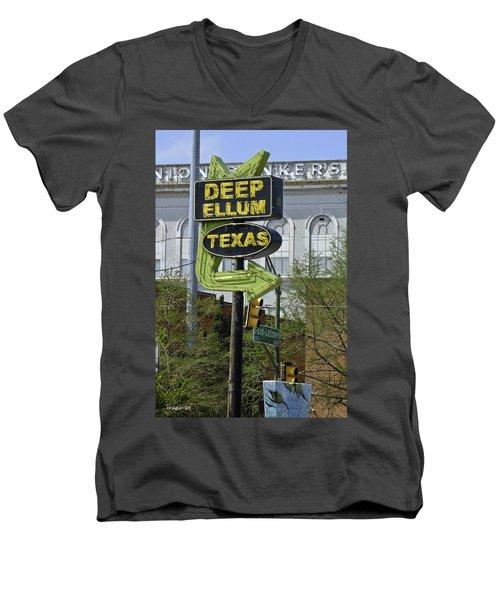 Deep Ellum Texas Men's V-Neck T-Shirt