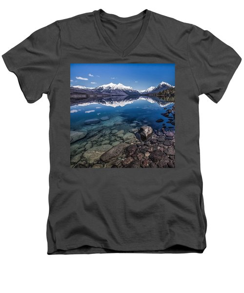 Deep Freeze Men's V-Neck T-Shirt by Aaron Aldrich