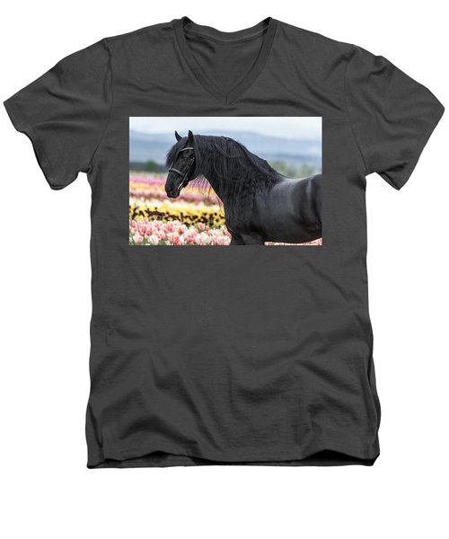 Deep In The Fields Men's V-Neck T-Shirt
