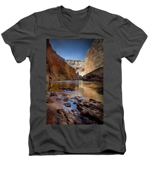 Deep Inside The Grand Canyon Men's V-Neck T-Shirt