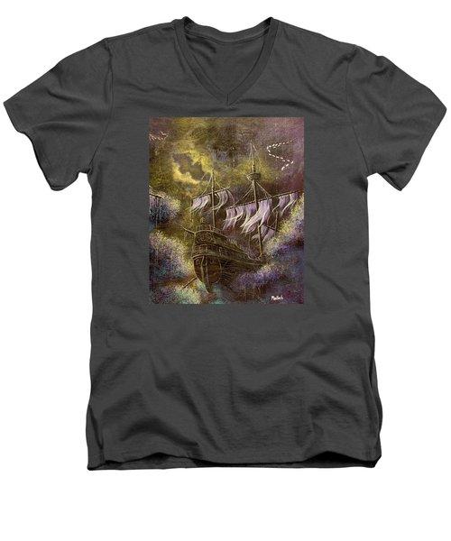 Deep Peace Men's V-Neck T-Shirt
