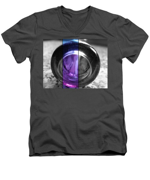 Men's V-Neck T-Shirt featuring the photograph Deep Thoughts Part Three by Sir Josef - Social Critic - ART