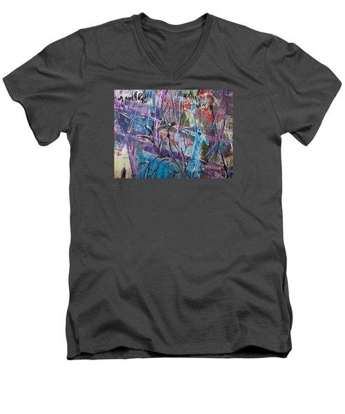Deer In Magical Forest Men's V-Neck T-Shirt