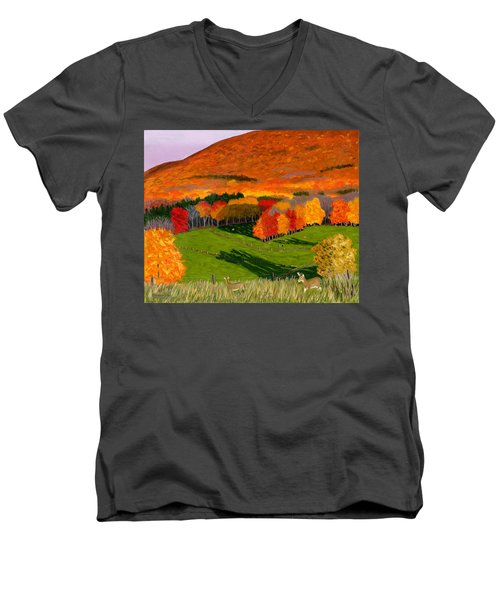 Deer's Eye View Of Bear Meadows Farm Men's V-Neck T-Shirt