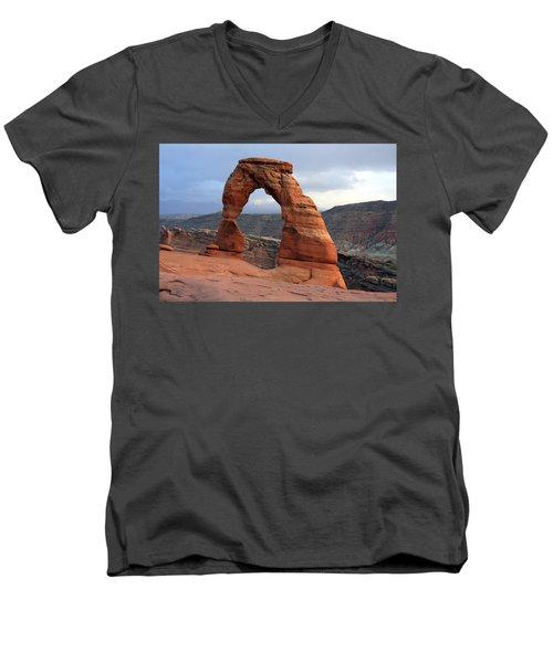 Delicate Arch - Arches National Park - Utah Men's V-Neck T-Shirt by Aidan Moran