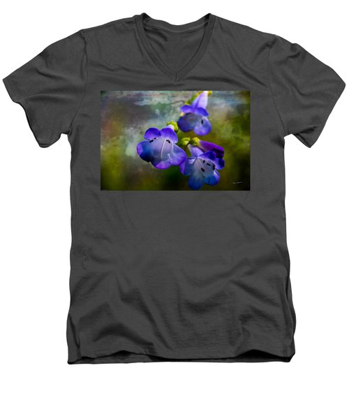 Delicate Garden Beauty Men's V-Neck T-Shirt by Mick Anderson