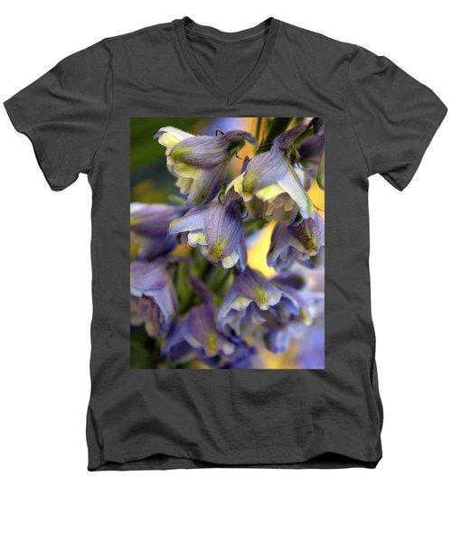 Delphinium Blue Men's V-Neck T-Shirt by Joseph Skompski