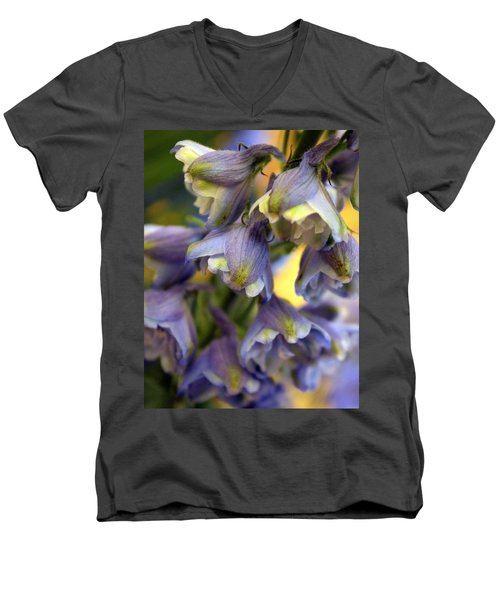 Delphinium Blue Men's V-Neck T-Shirt