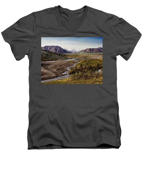 Denali Toklat River Men's V-Neck T-Shirt