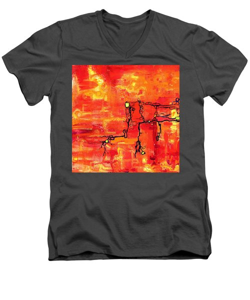 Dendritic Echoes Men's V-Neck T-Shirt