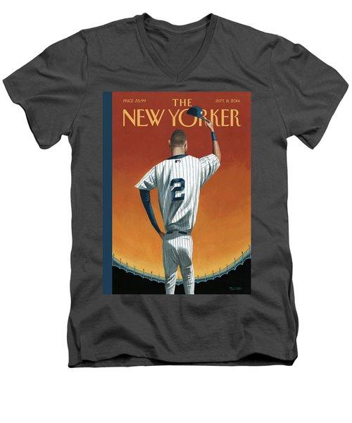 Derek Jeter Bows Out Men's V-Neck T-Shirt