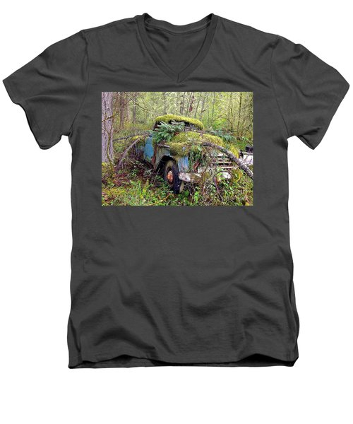 Men's V-Neck T-Shirt featuring the photograph Derelict by Sean Griffin