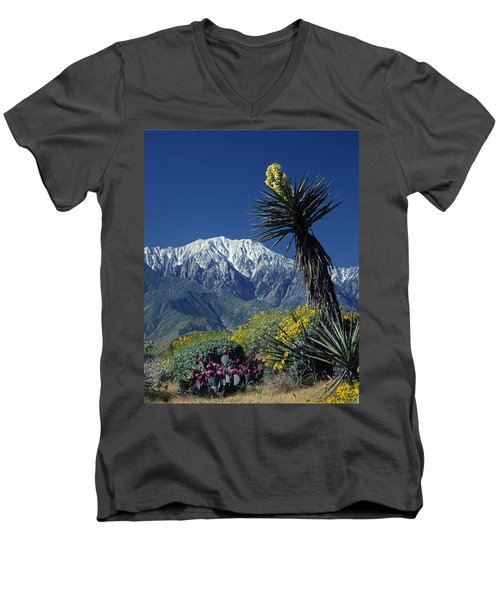 Desert Blooms Men's V-Neck T-Shirt