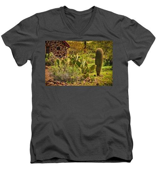 Men's V-Neck T-Shirt featuring the photograph Desert Dream by Mark Myhaver