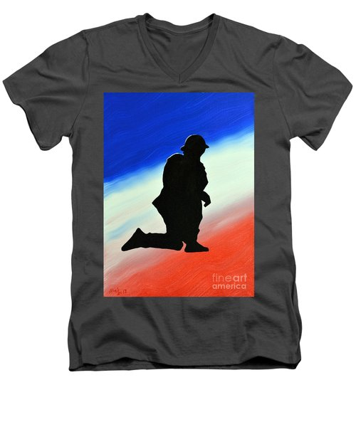 Desert Duty II Men's V-Neck T-Shirt by Alys Caviness-Gober