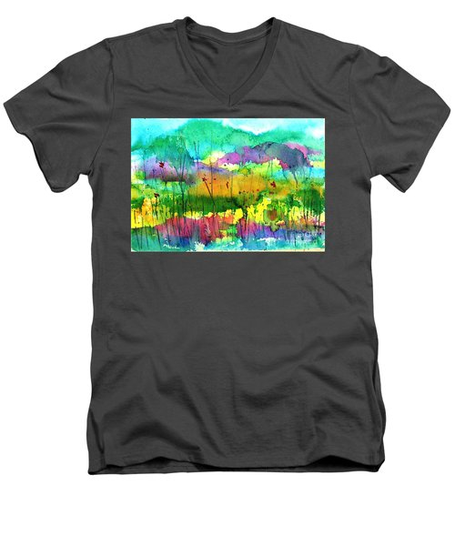 Desert In The Spring Men's V-Neck T-Shirt