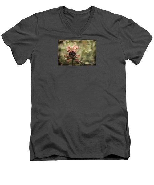 Desert Longing Men's V-Neck T-Shirt by Jean OKeeffe Macro Abundance Art