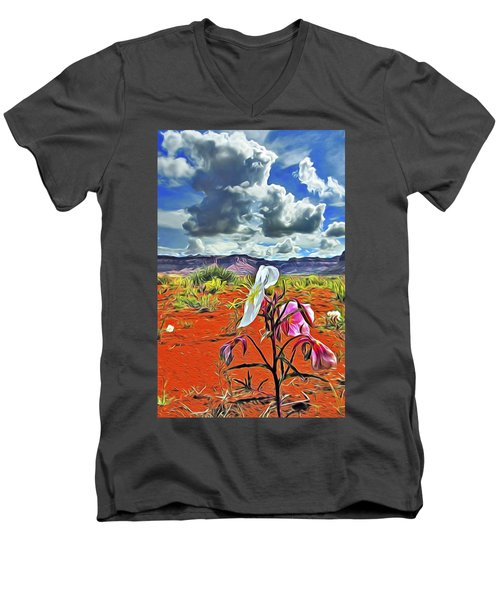 Desert Primrose 3 Men's V-Neck T-Shirt