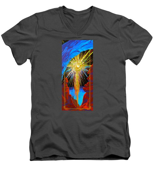 Desert Star  Men's V-Neck T-Shirt