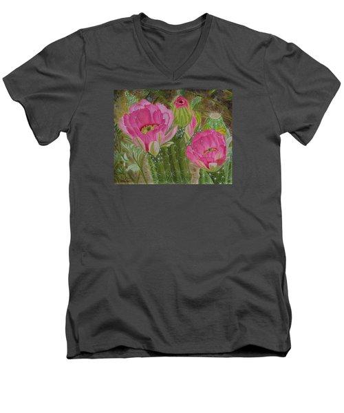 Desert Stars Men's V-Neck T-Shirt by Donna  Manaraze