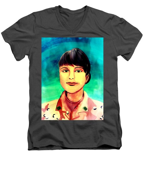 Desert Storm Jennifer Men's V-Neck T-Shirt