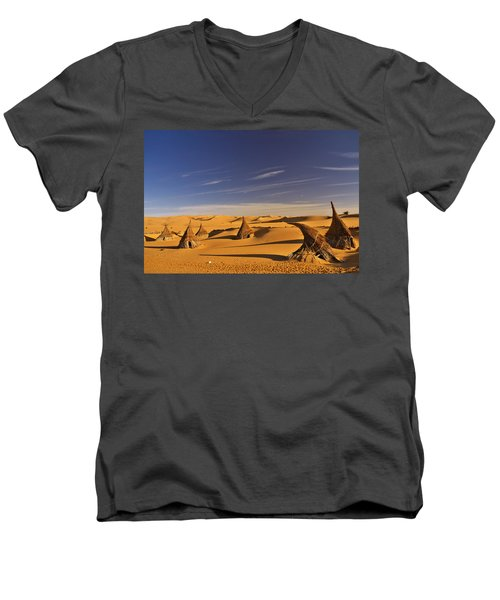 Desert Village Men's V-Neck T-Shirt