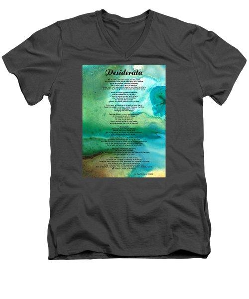 Desiderata 2 - Words Of Wisdom Men's V-Neck T-Shirt