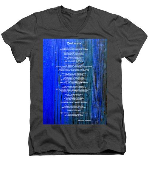 Desiderata On Blue Men's V-Neck T-Shirt