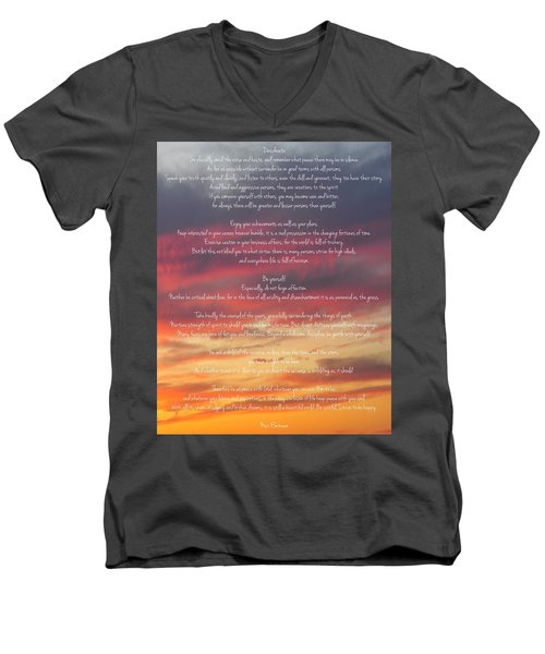 Desiderata Sky 2 Men's V-Neck T-Shirt