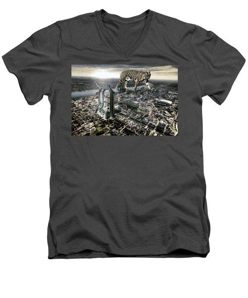 Detroit Men's V-Neck T-Shirt