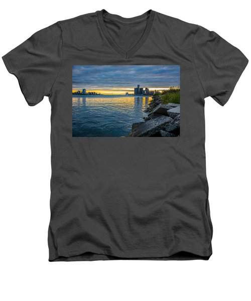 Detroit Sunset Men's V-Neck T-Shirt