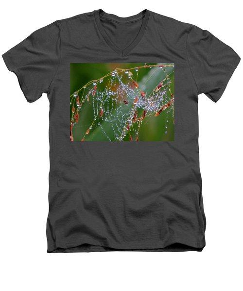Dewdrop Inn Men's V-Neck T-Shirt by Dianne Cowen