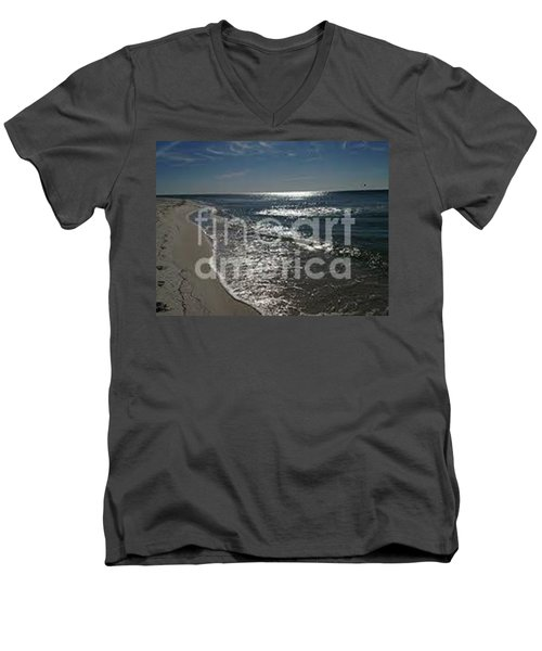 Men's V-Neck T-Shirt featuring the photograph Diamond Mine by Laurie L