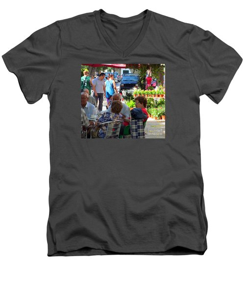 Men's V-Neck T-Shirt featuring the photograph Did You Say You Went On Vacation? by Tina M Wenger