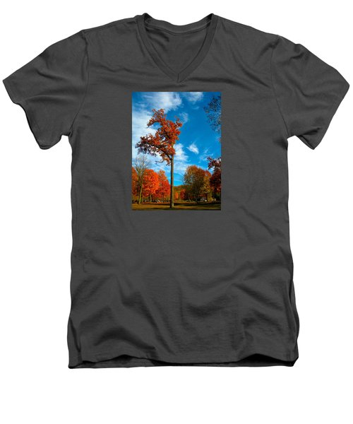 Men's V-Neck T-Shirt featuring the photograph Loneliness by Zafer Gurel