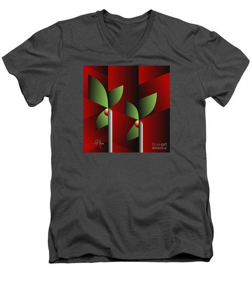 Digital Garden Men's V-Neck T-Shirt