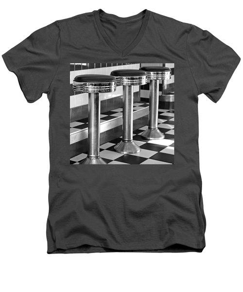 Diner Stools Men's V-Neck T-Shirt