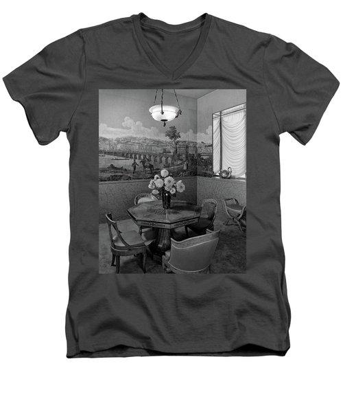 Dining Room In Helena Rubinstein's Home Men's V-Neck T-Shirt