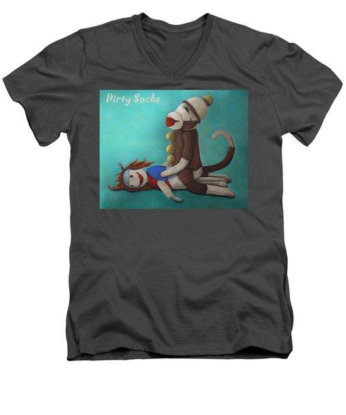 Dirty Socks 4 With Lettering Men's V-Neck T-Shirt