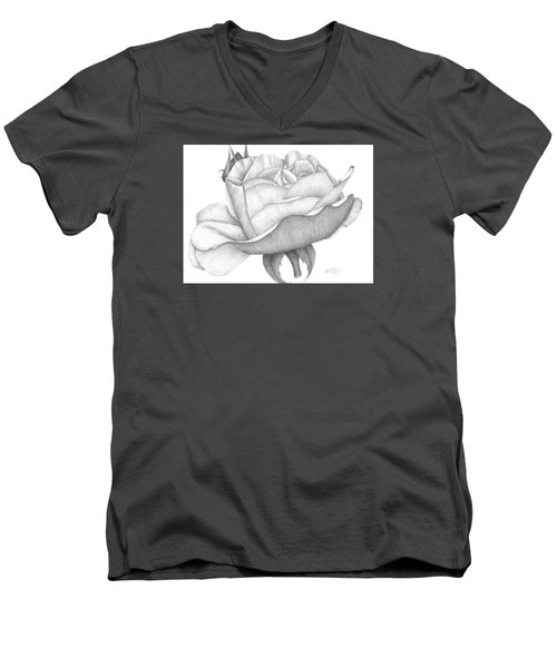 Distant Drum Rose Bloom Men's V-Neck T-Shirt by Patricia Hiltz