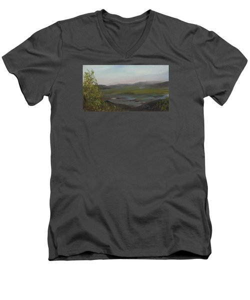 Distant Mist Men's V-Neck T-Shirt by Alan Mager