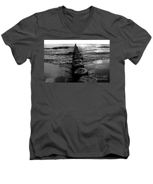 Distant Seagull Baltic Beach Men's V-Neck T-Shirt