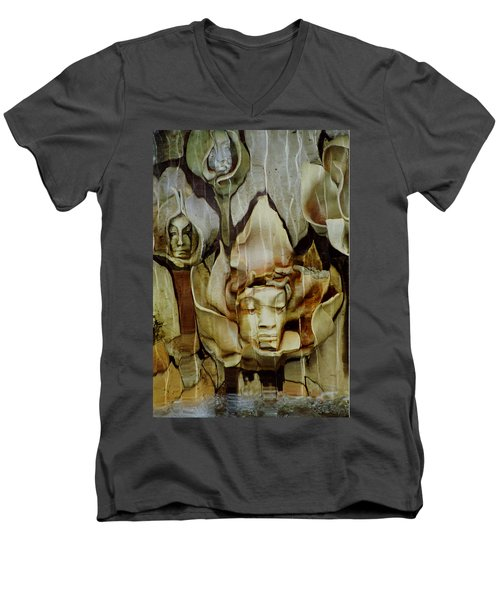 Men's V-Neck T-Shirt featuring the photograph Distortion by Penny Lisowski