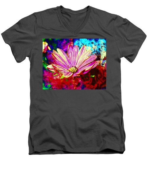 Men's V-Neck T-Shirt featuring the painting Do It All Over Again by Joe Misrasi