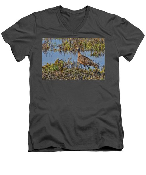 Men's V-Neck T-Shirt featuring the photograph Do You Like My Stylish Beak by Gary Holmes