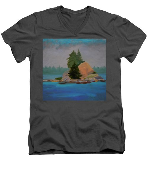 Men's V-Neck T-Shirt featuring the painting Pork Of Junk by Francine Frank