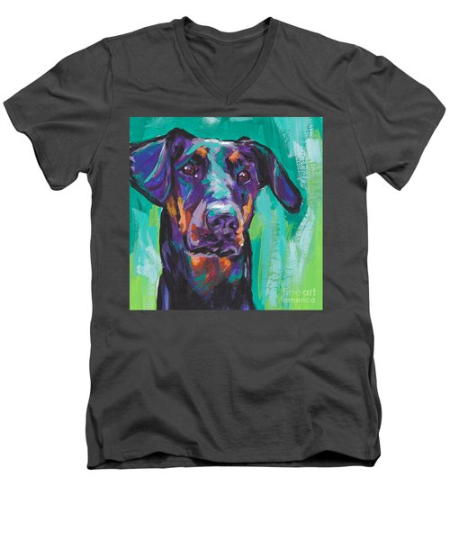 Dobie Love Men's V-Neck T-Shirt