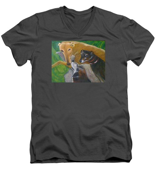 Dogs Resting Men's V-Neck T-Shirt